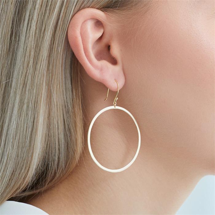 Vergoldete Sterlingsilber Kreis Ohrhänger