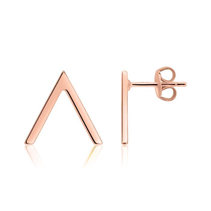 Ohrstecker V-Design aus rosévergoldetem 925er Silber