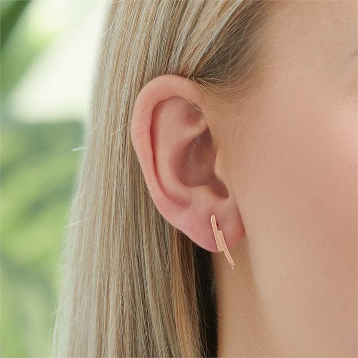 Rosévergoldete 925er Silber Ohrhänger