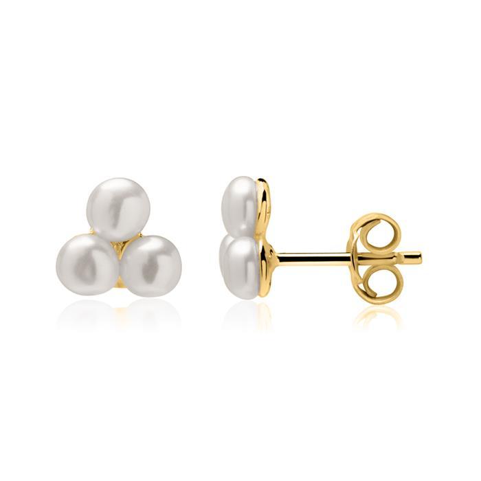 Ohrstecker aus vergoldetem 925er Silber mit Perlen