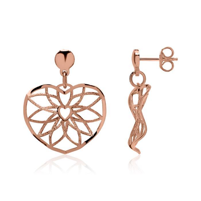 Ohrstecker Ornamente aus Sterlingsilber rosévergoldet