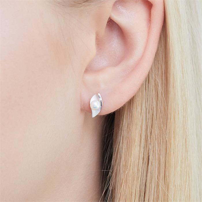 Ohrstecker aus 925er Silber mit Perlen