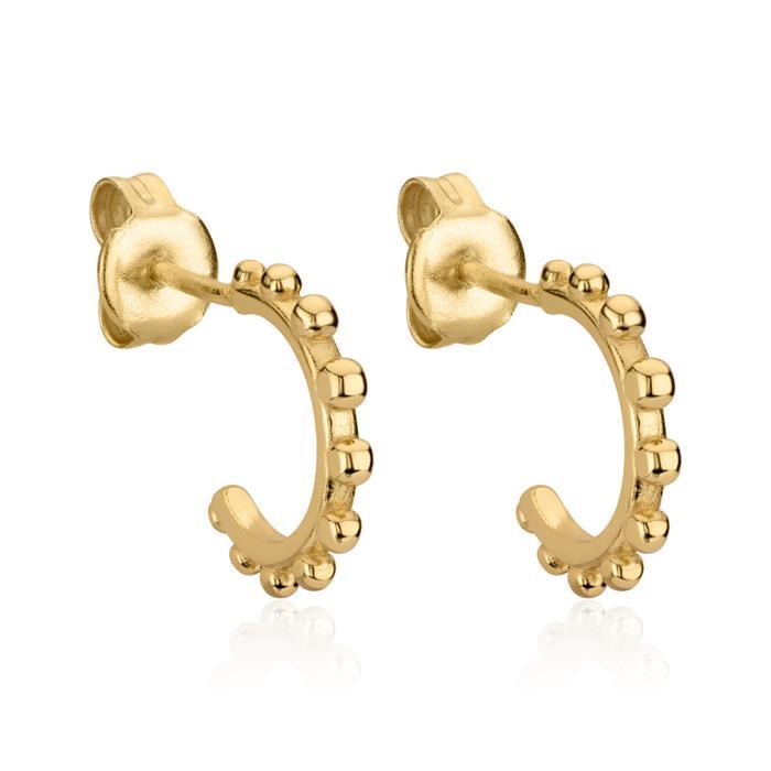 Damen Creolen Dots aus vergoldetem 925er Silber