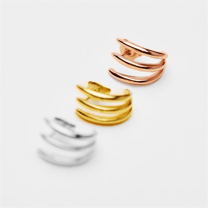 Rosévergoldete 925er Silber-Creolen für Damen