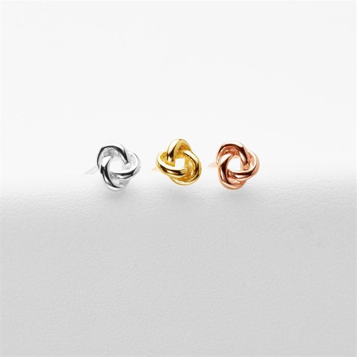 Ohrstecker Knoten für Damen aus Sterlingsilber