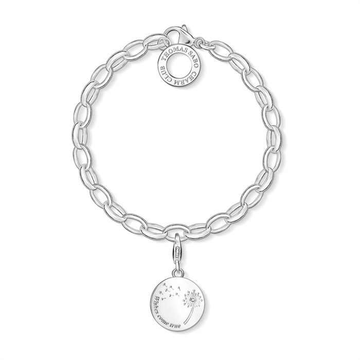 925er Silber Charm Armband Wishes come true