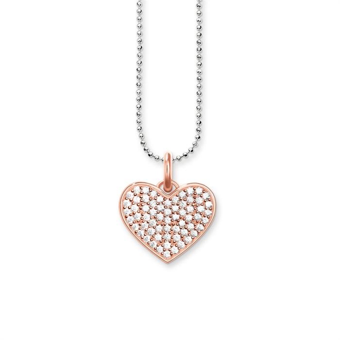 Herzkette aus 925er Silber rosé
