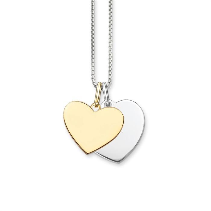 Thomas Sabo Necklace Hearts Bicolor Sterling Silver