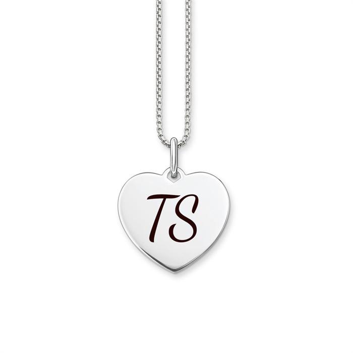 Gravierbare Herzkette aus 925er Silber