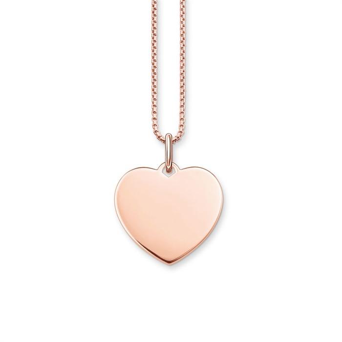 Kette Herz aus 925er Silber rosévergoldet