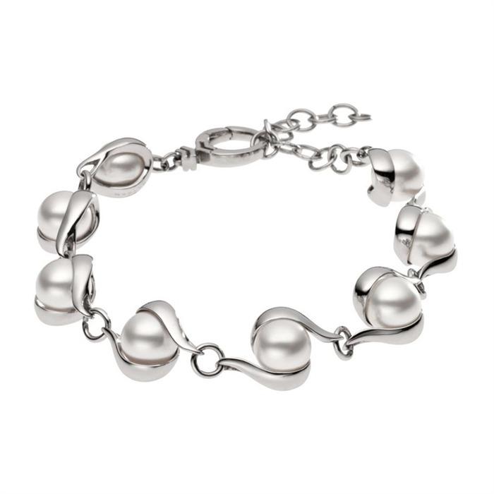 Perlen-Armband Agnethe Edelstahl