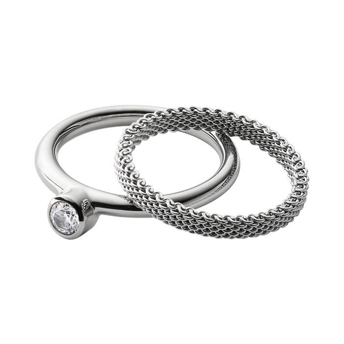 Ring Set Elin für Damen aus Edelstahl