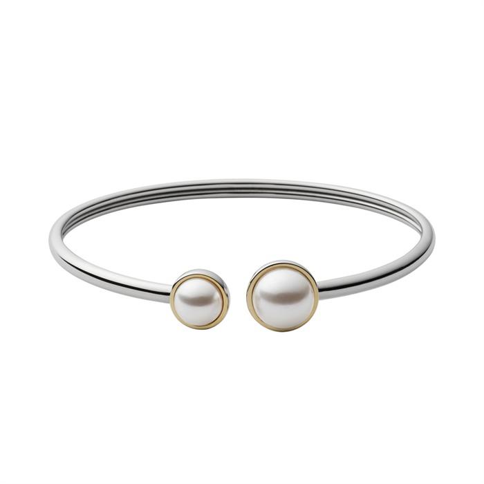 Armreif silber mit schöner Perle