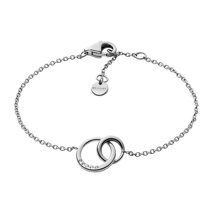 Damenarmband Elin aus Edelstahl mit Glassteinen