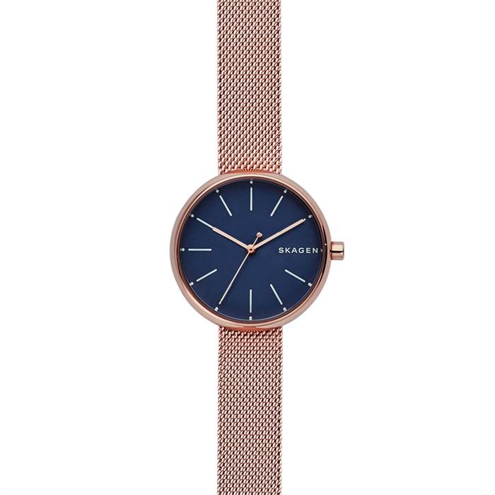 Uhr mit roséfarbenem Milanaiseband