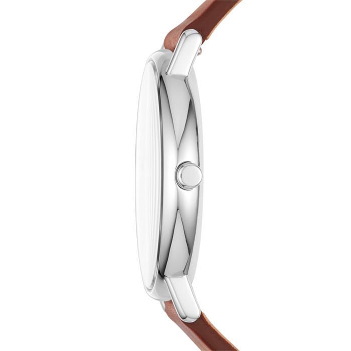 Uhr Signatur für Herren mit braunem Lederband