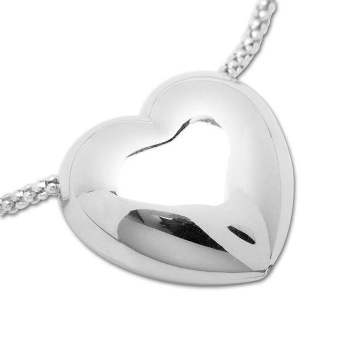 Exklusive Kette mit Herzanhänger aus 925 Silber