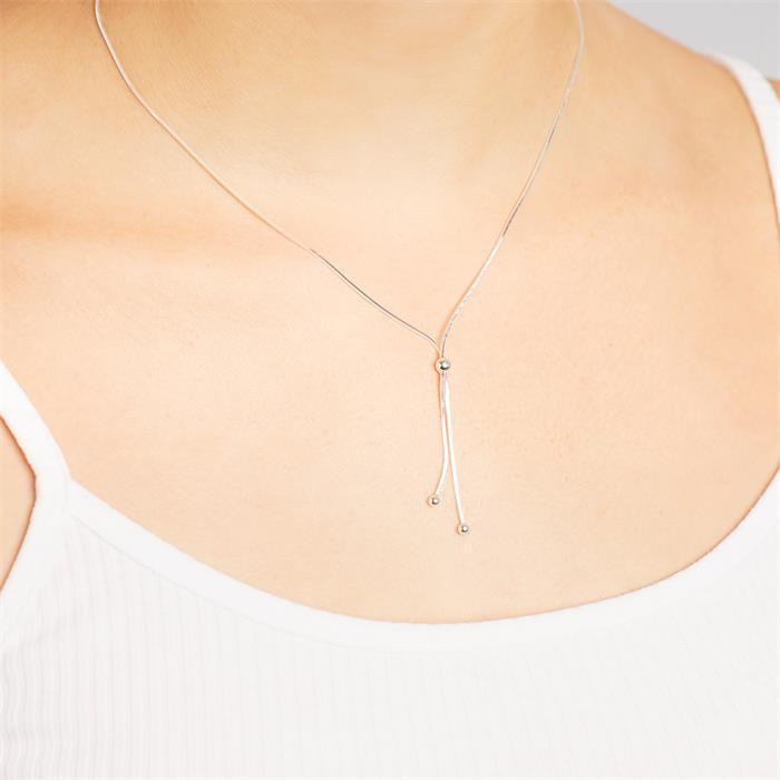 Exklusive Silberkette mit Kugelanhänger
