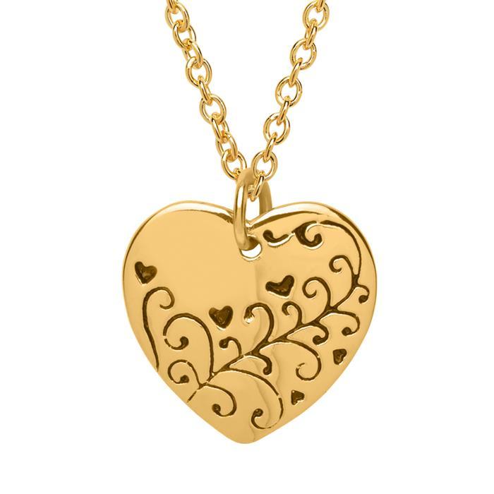 925 Silberkette vergoldet mit Herzanhänger
