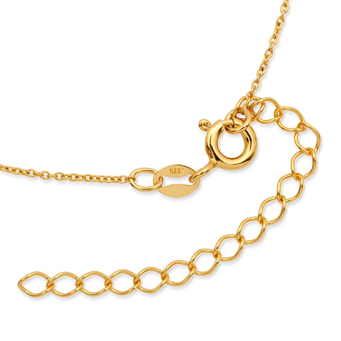 Vergoldete Silberkette mit Blumenanhänger
