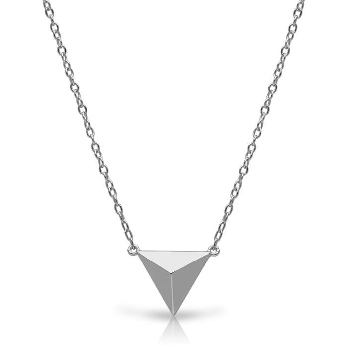 Kette pyramidenförmiger Anhänger Silber