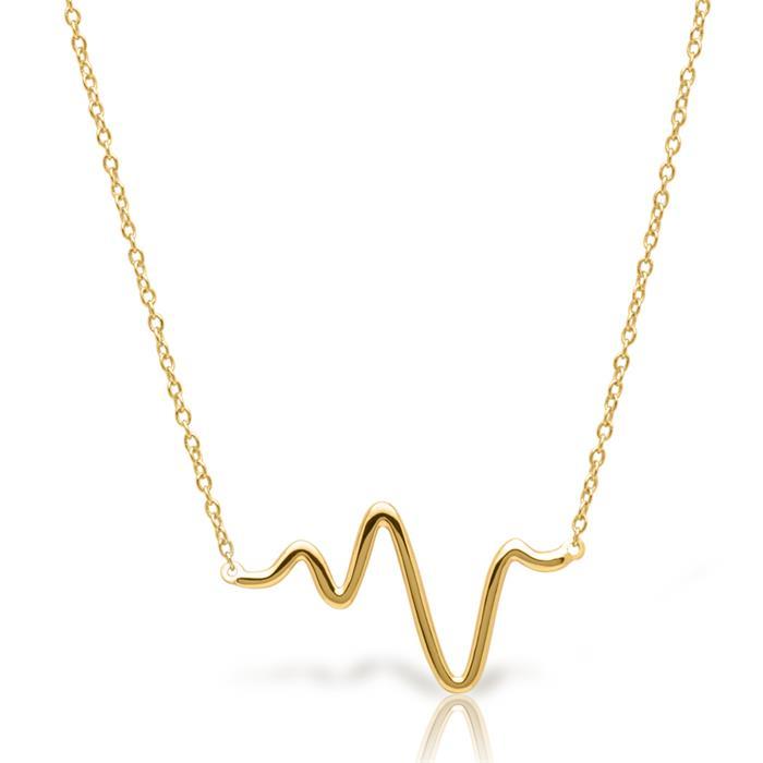 Kette 925er Silber vergoldet gezacktes Design