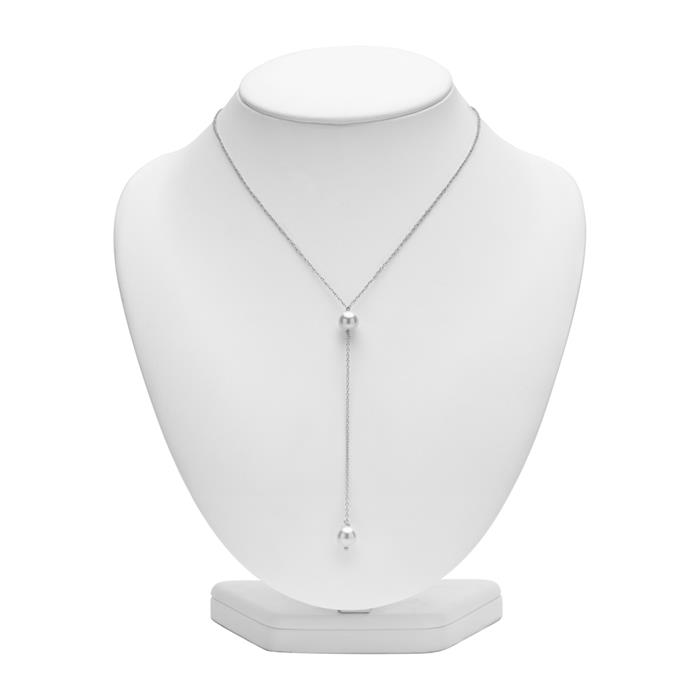 Perlenkette 925er Silber Y-Design