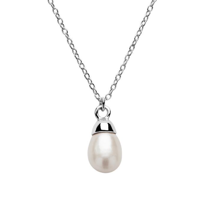 Kette für Damen aus 925er Sterlingsilber mit Perle