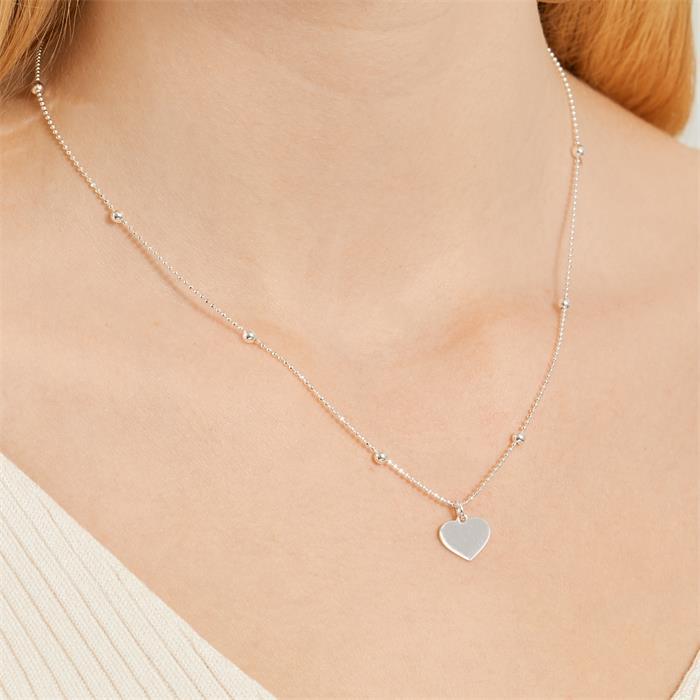925er Silberkette Herz mit Gravurmöglichkeit