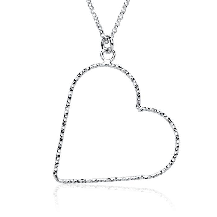 Herzkette aus 925er Sterlingsilber