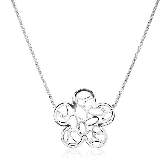 Kette Blume aus 925er Sterlingsilber