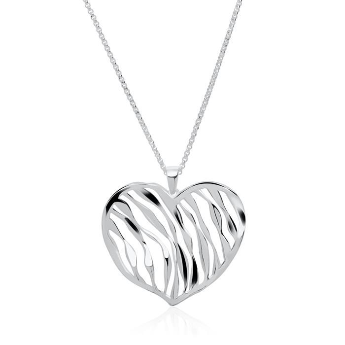 Herzkette aus 925er Silber