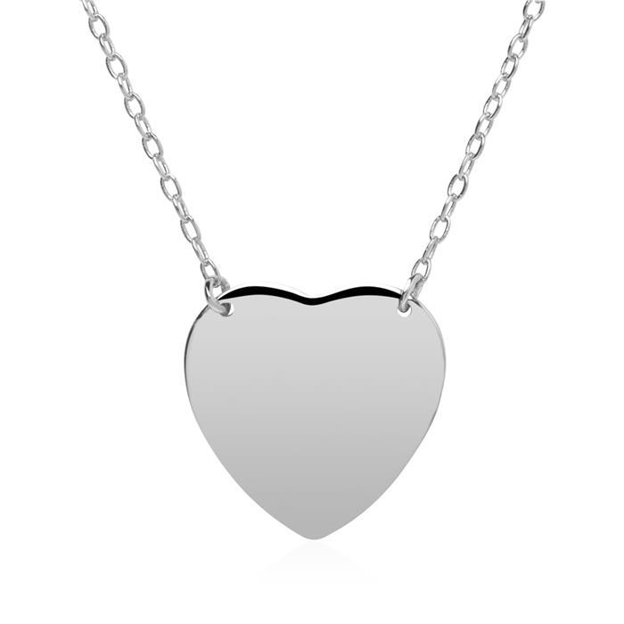 Herzkette aus Sterlingsilber gravierbar