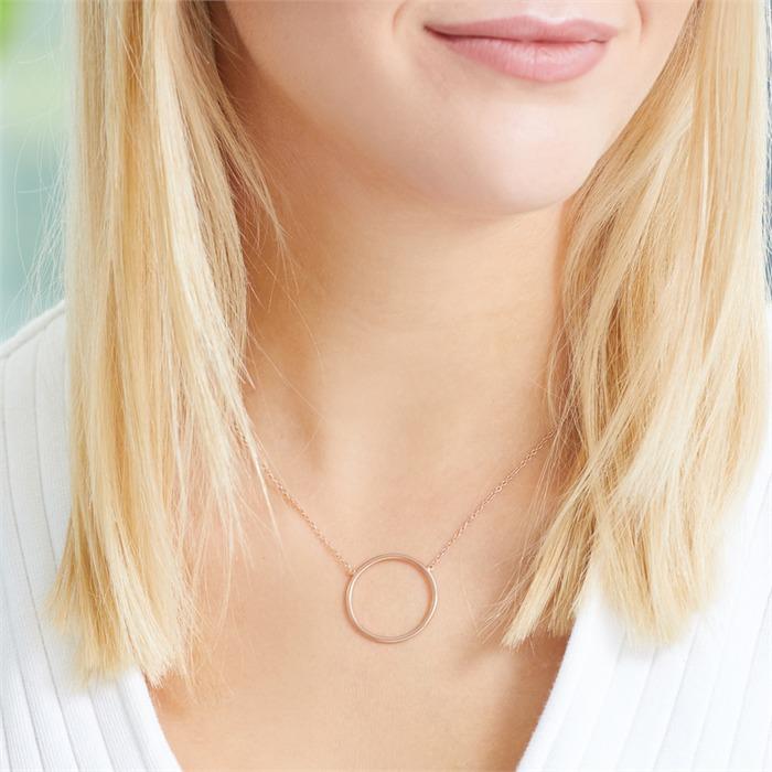 Halskette Kreis aus rosévergoldetem 925er Silber