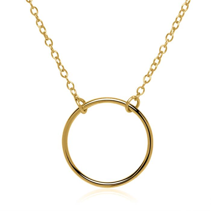 Kreiskette aus vergoldetem Sterlingsilber