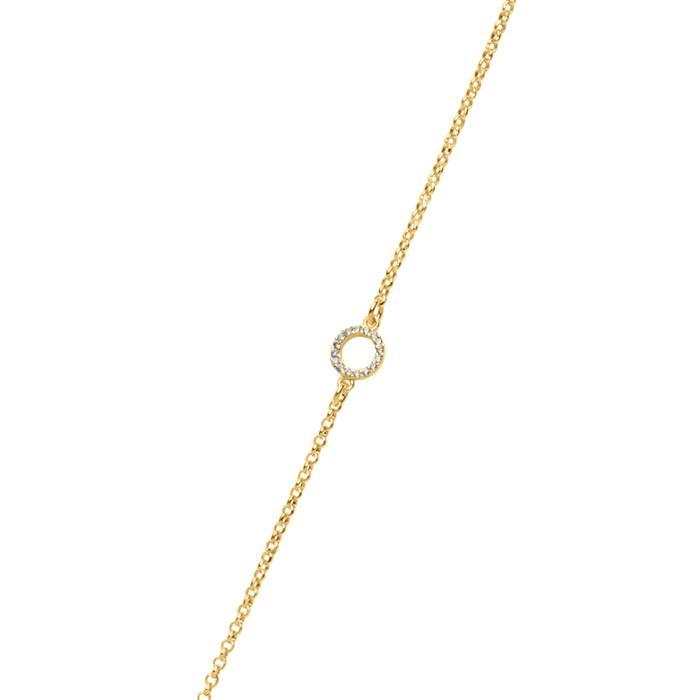 Kette Kreise aus vergoldetem 925er Silber mit Zirkonia