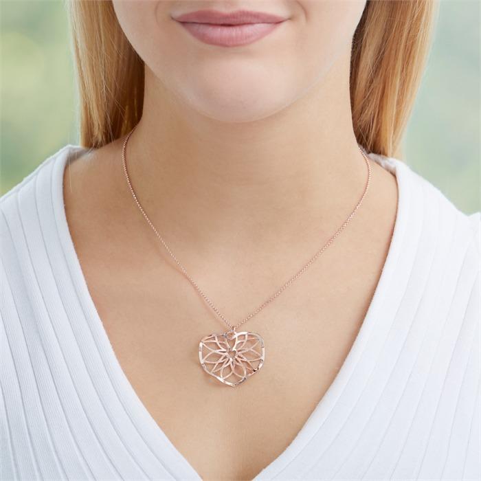 Kette Herzornament aus rosévergoldetem 925er Silber