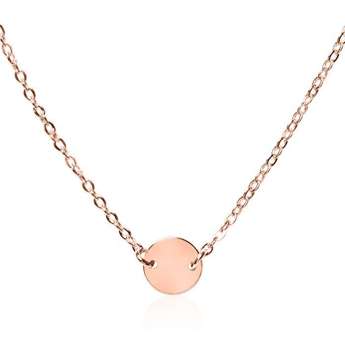 Halskette aus rosévergoldetem Sterlingsilber gravierbar