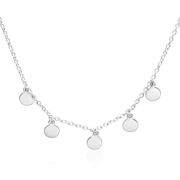 925er Silberkette mit runden Anhängern