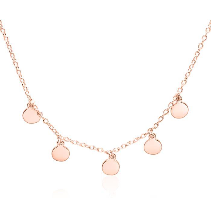 Damenkette aus rosévergoldetem 925er Silber