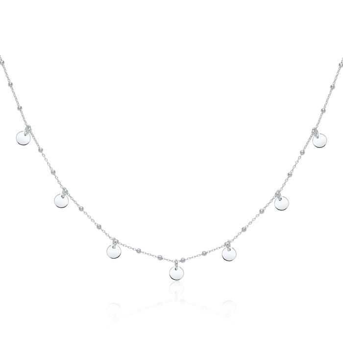 925er Silberkette mit Plättchen Anhängern