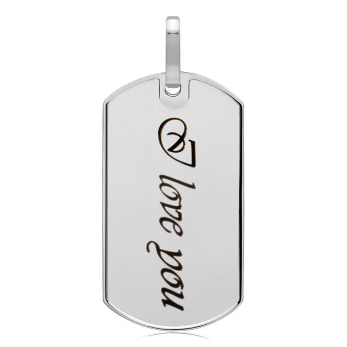 Moderner Dog-Tag Anhänger 925 Silber 20g
