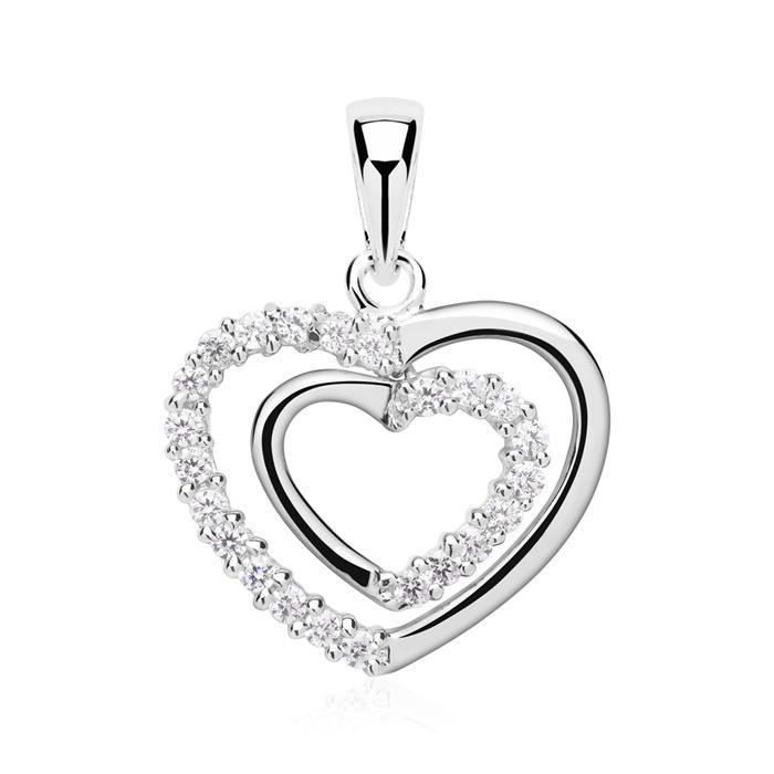 Exklusiver Herz Anhänger aus 925 Silber