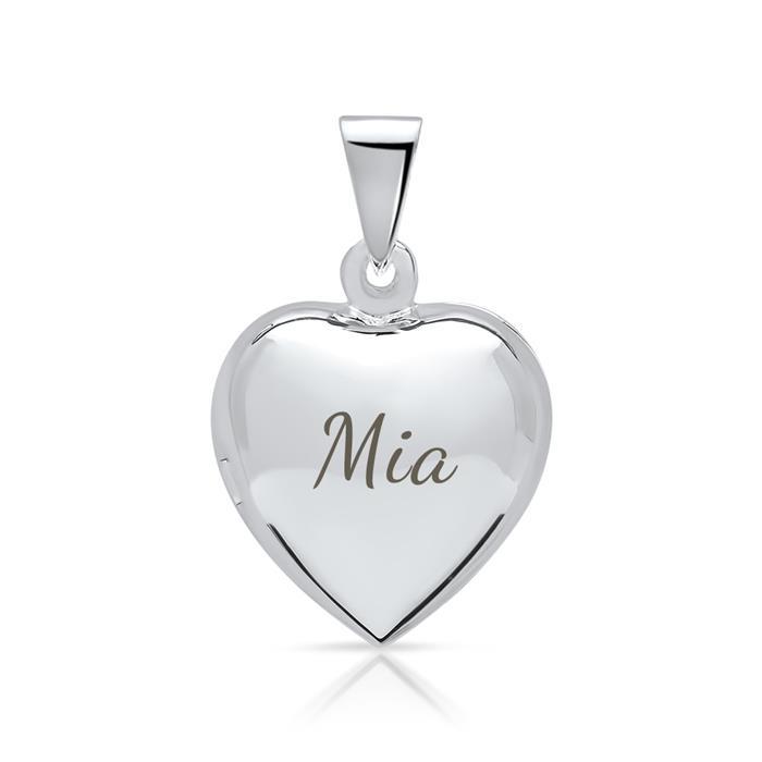 Herzmedaillon aus 925 Sterling Silber