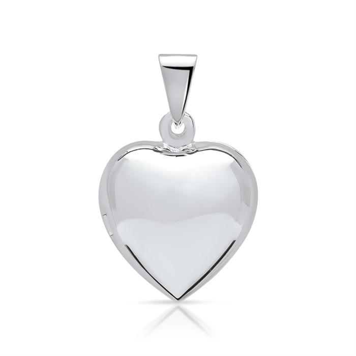 Modernes Herzmedaillon aus 925 Sterling Silber