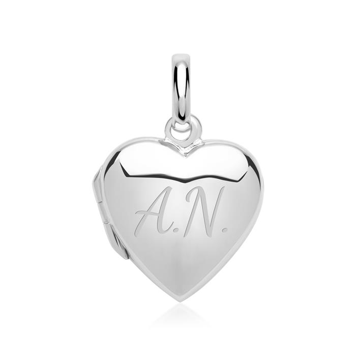 Silber HerzMedaillon Gravur möglich