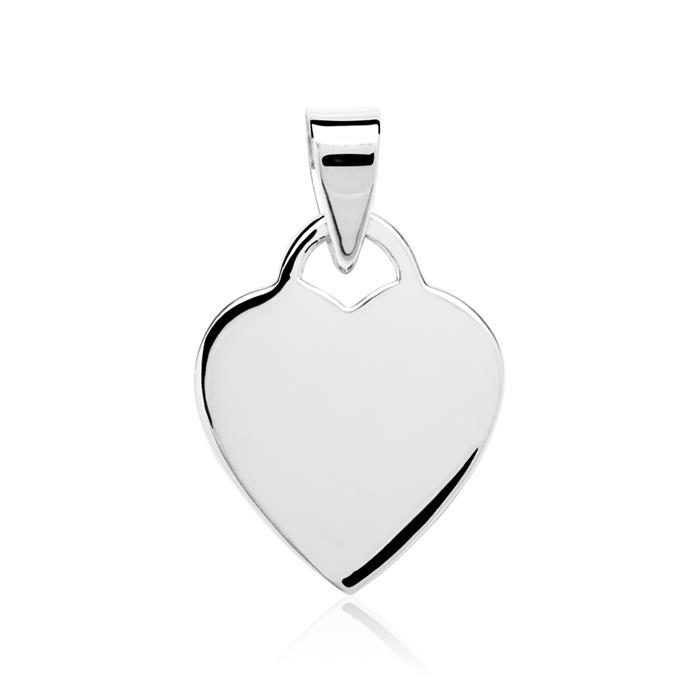 Herzanhänger 925 Silber Anhänger gravierbar