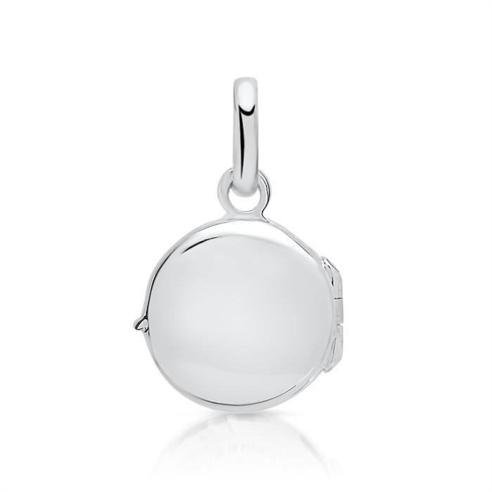 Modernes 925 Silber Medaillon aufklappbar