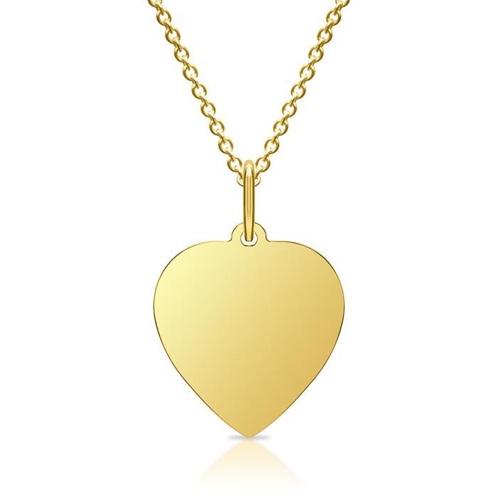 Silberkette mit Anhänger vergoldet gravierbar