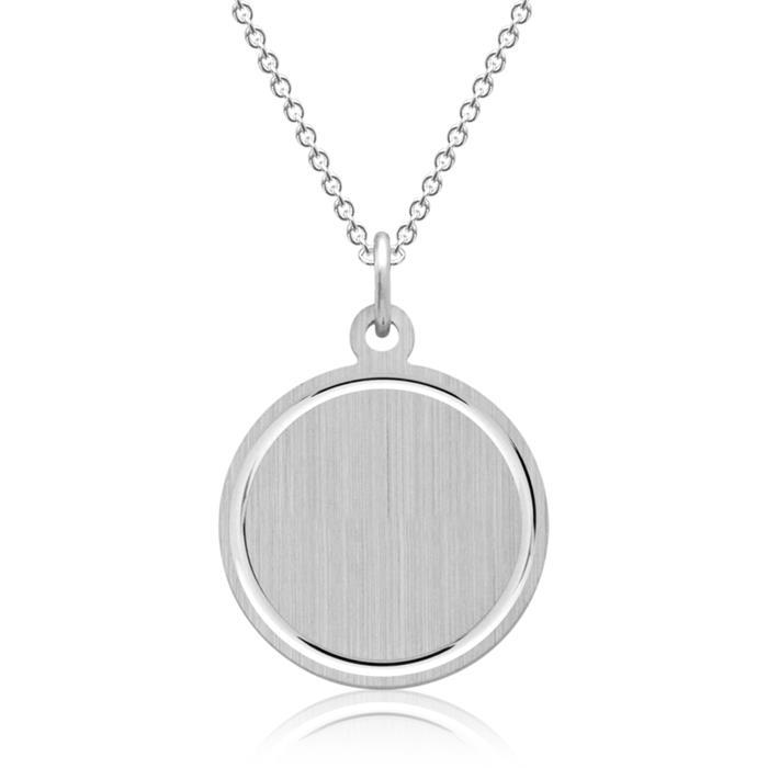 Silberkette mit Anhänger Gravur möglich